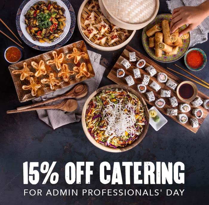 15% off catering for Admin Professionals' Day