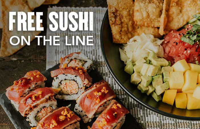 Free sushi on the line